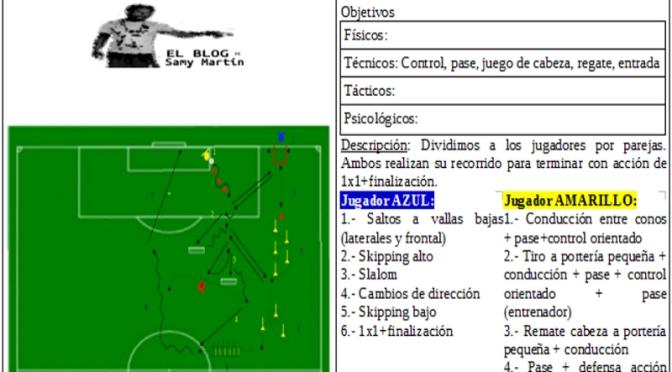 Circuito Tecnico Futbol : Circuito tÉcnico con finalizaciÓn el de samy